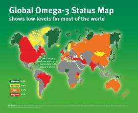 Global Omega-3 Status Map